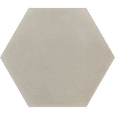 Solid Hex Dune 7-7/8 in. x 9-1/8 in. Cement Handmade Floor and Wall Tile