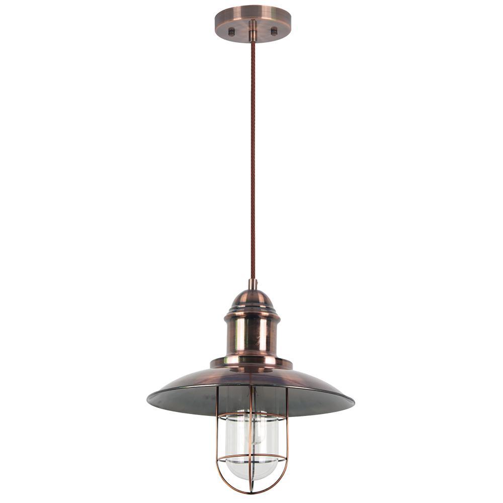 Pompei 1-Light Copper Pendant Fixture