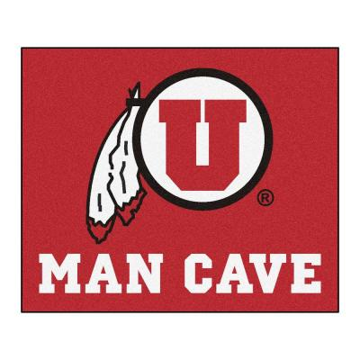 University of Utah Red Man Cave 5 ft. x 6 ft. Area Rug