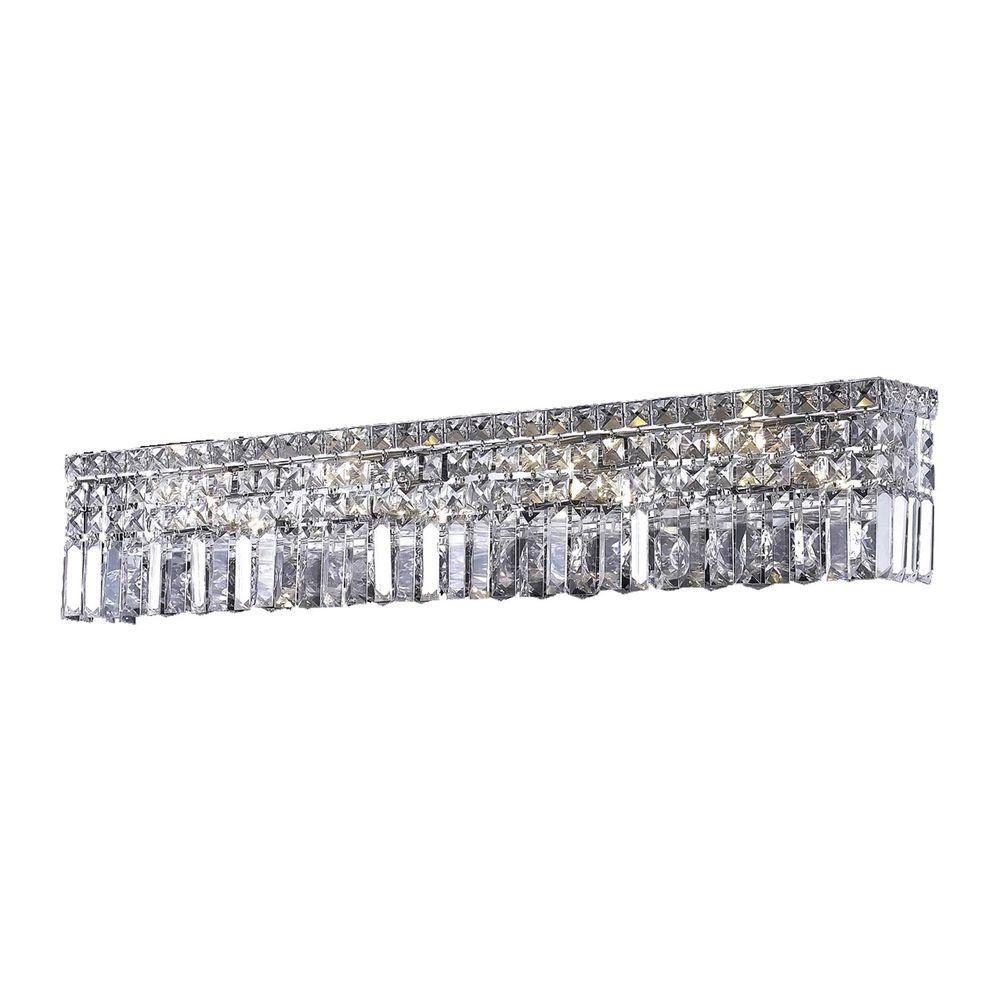 Elegant Lighting 8-Light Chrome Wall Sconce with Clear Crystal
