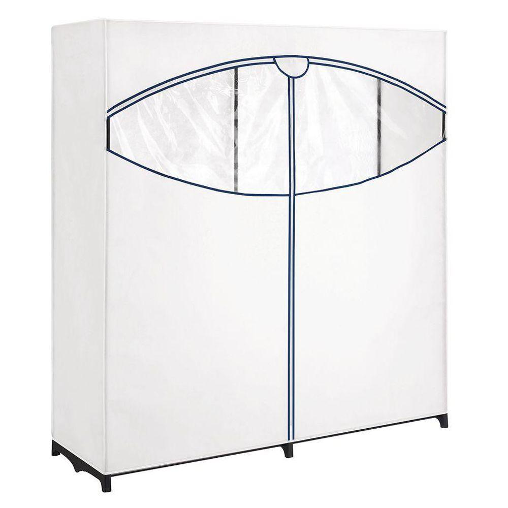 Charmant Whitmor Extra Wide Clothes Closet With White Cover