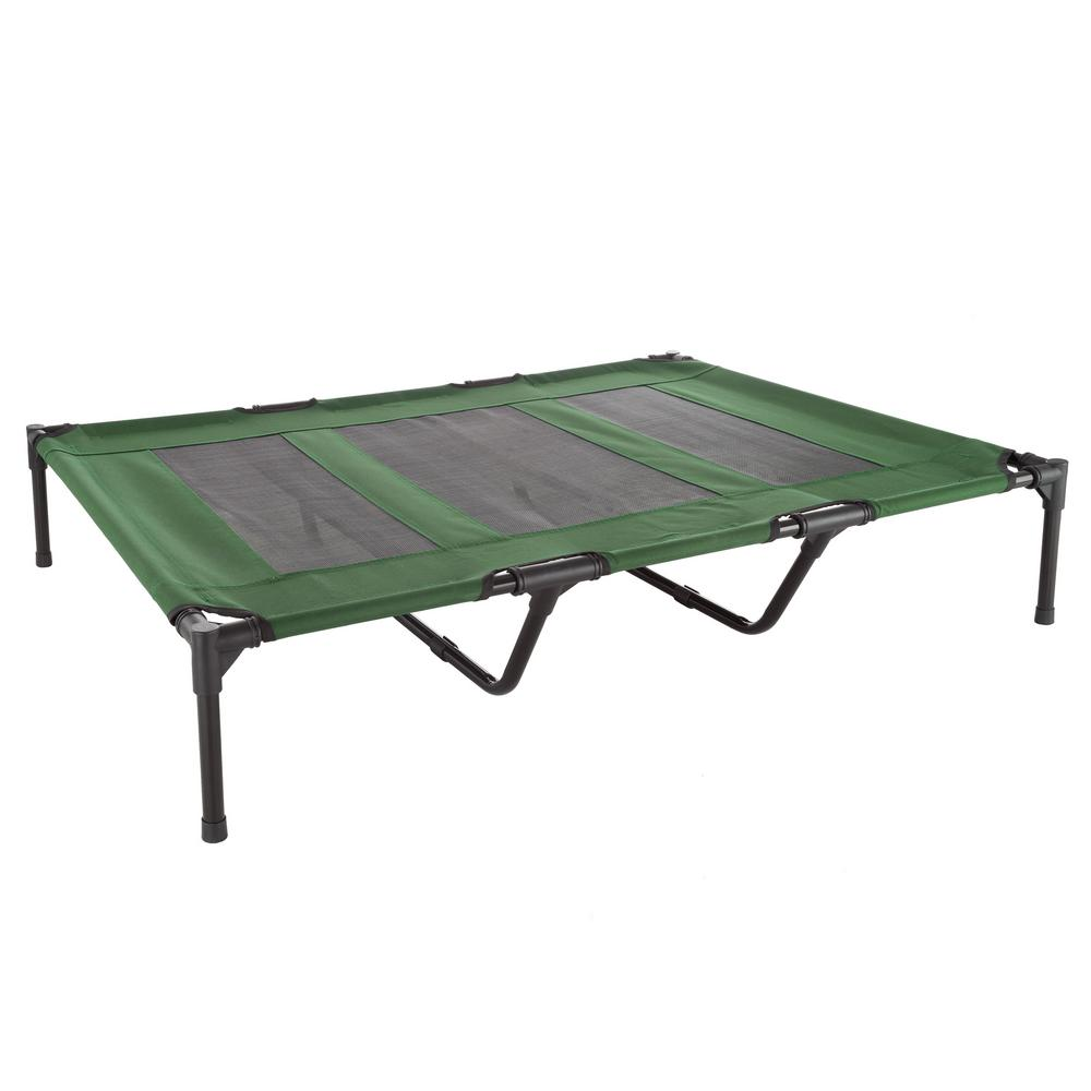 Petmaker Extra Large Green Elevated Pet Bed