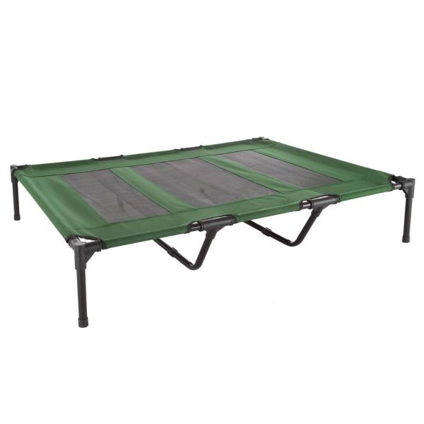 Extra Large Green Elevated Pet Bed