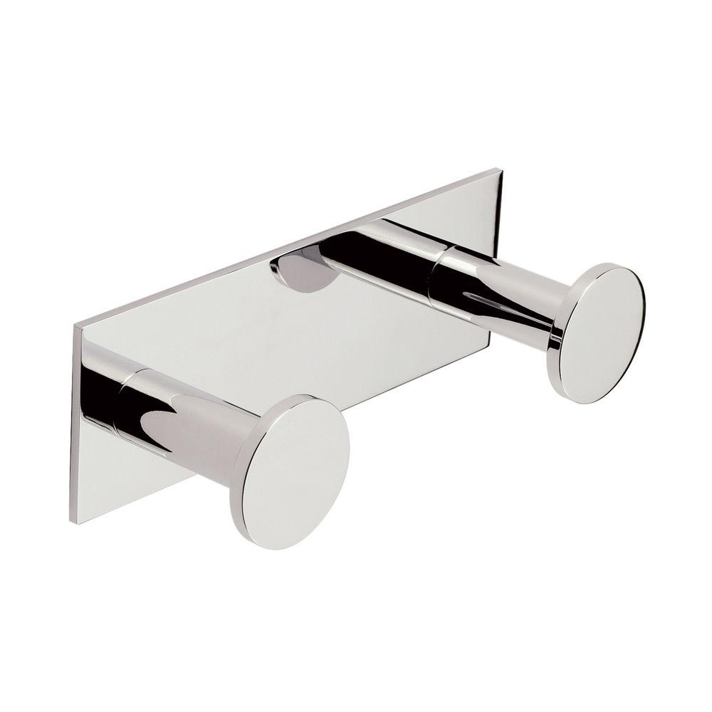 Surface Double Robe Hook in Polished Chrome