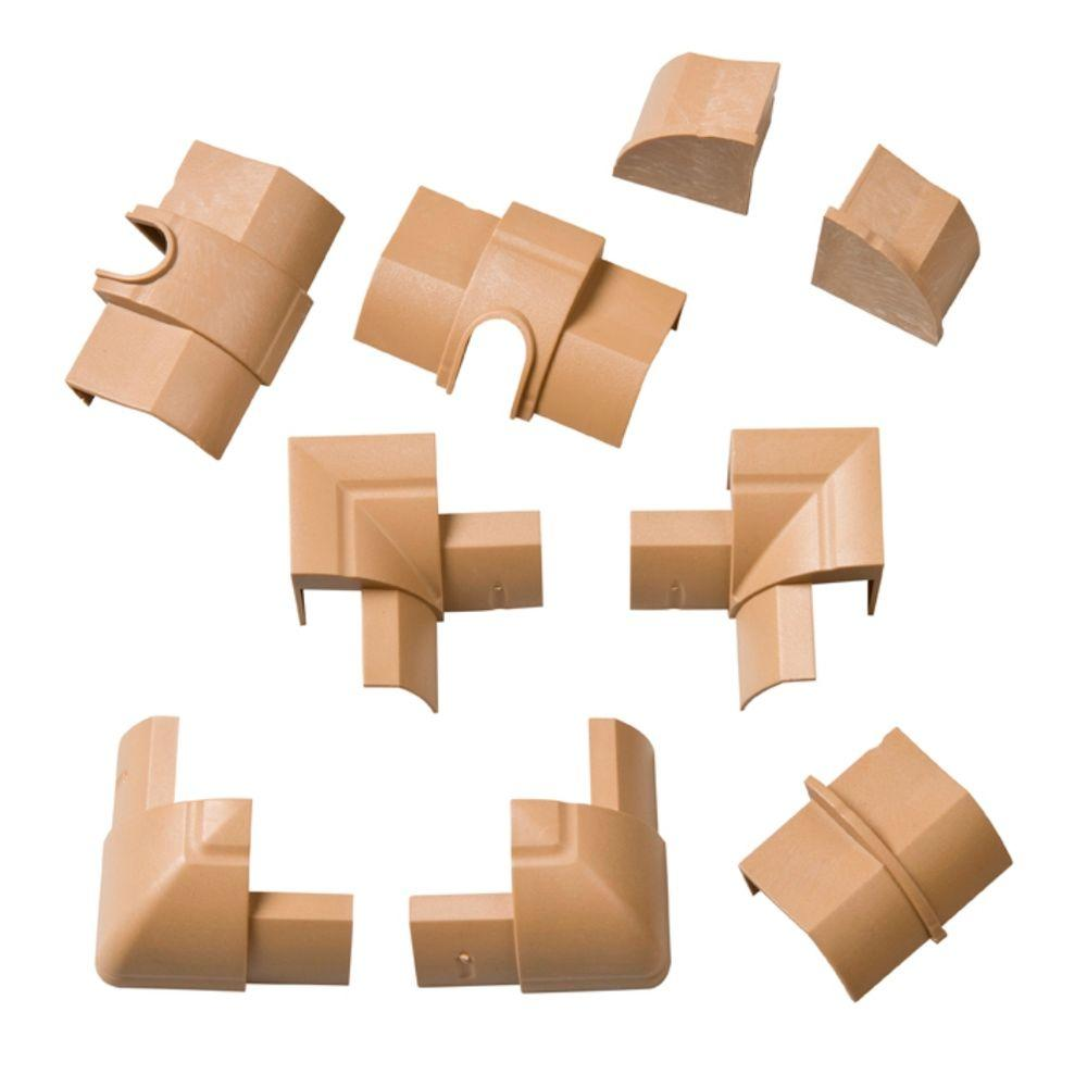 null Multipack of 9 Accessories for Quarter Round Stainable Decorative Cable Cover-DISCONTINUED