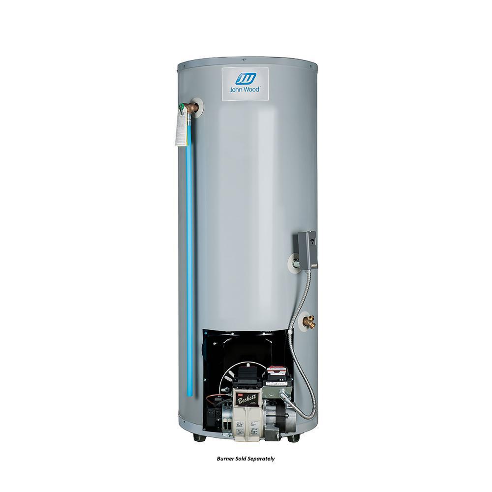 John Wood 50 Gal. Tall Residential Oil-Fired Rear Flue Tank Water ...