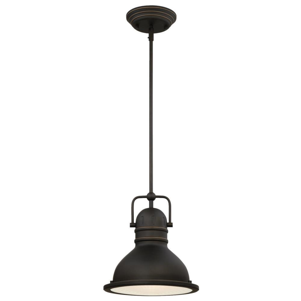 Westinghouse Boswell 1-Light Oil Rubbed Bronze with Highlights Pendant with LED Bulb