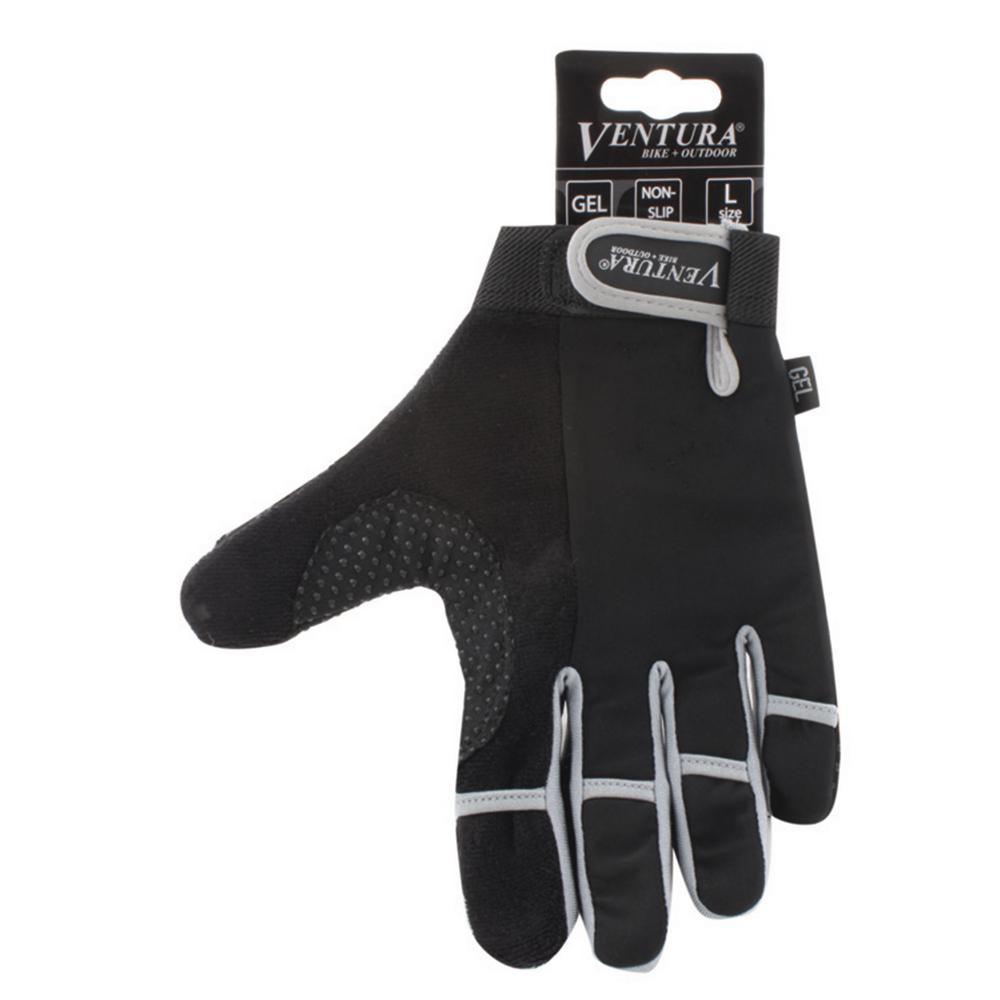 Extra Large Gray Full Finger Bike Gloves