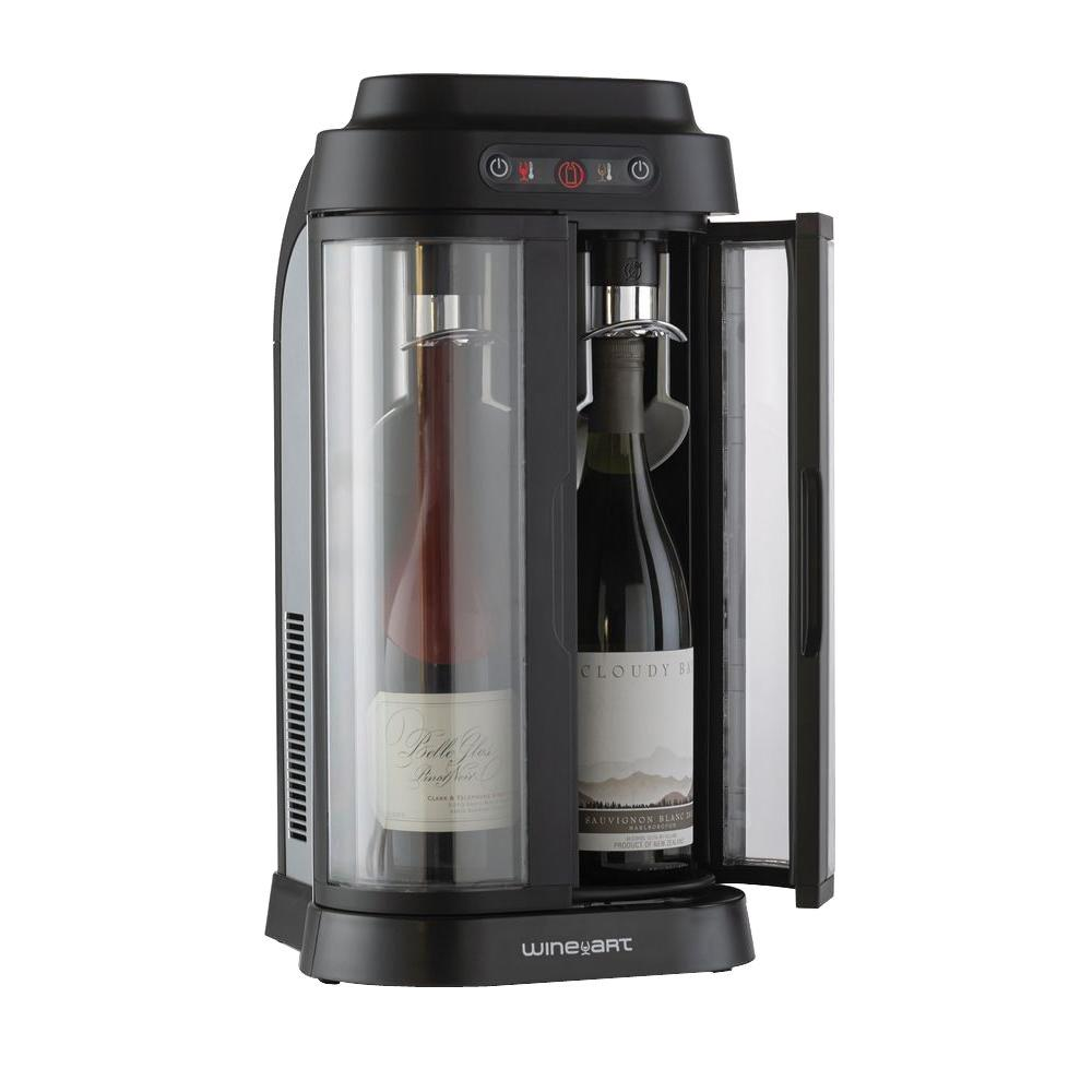 Wine Enthusiast EuroCave Wine Art 2-Bottle Wine Chiller and Preservation System