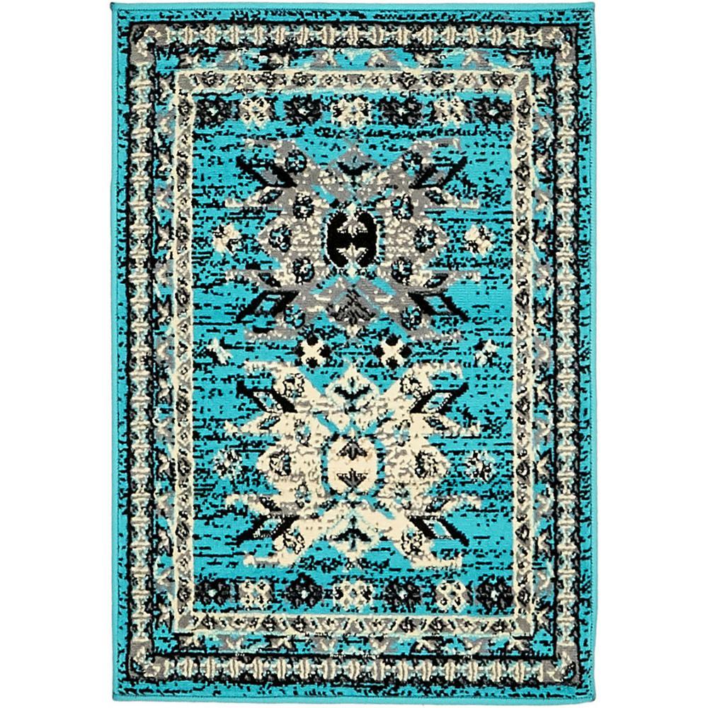 Taftan Oasis Turquoise 2' 2 x 3' 0 Area Rug