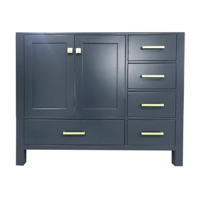 Cambridge 42 in. W x 21.5 in. D Vanity Cabinet Only in Midnight Blue