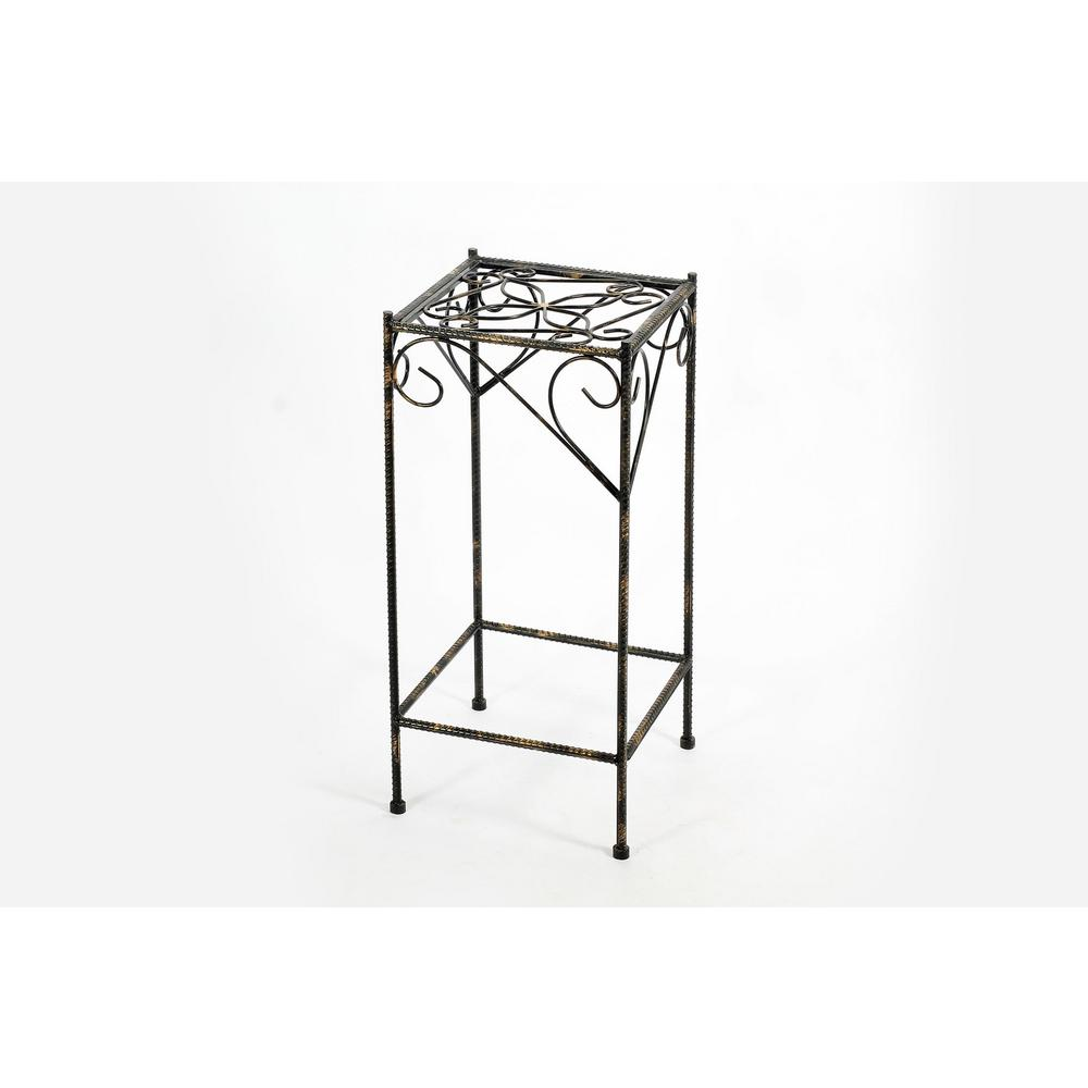 ORE International Cast Iron Large Celtic Clover Square Plant Stand