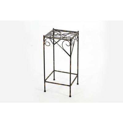 Cast Iron Large Celtic Clover Square Plant Stand