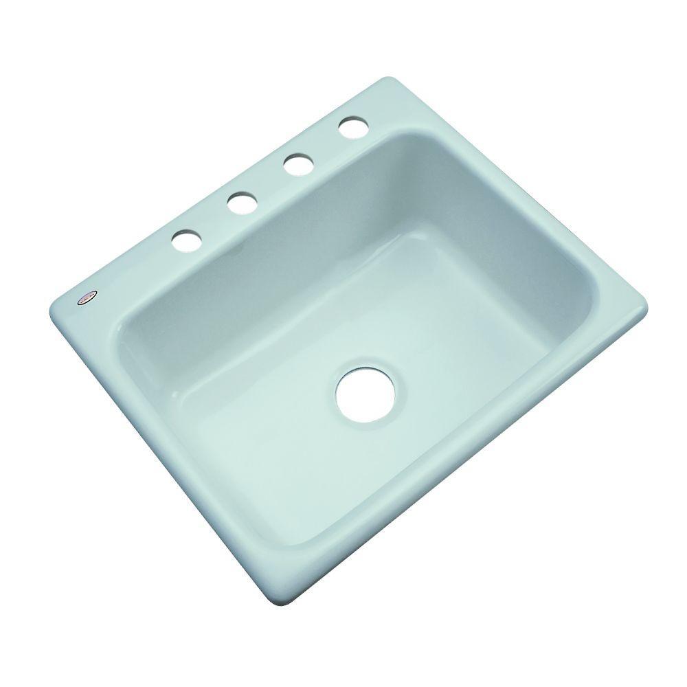 4 Hole Single Bowl Kitchen Sink In