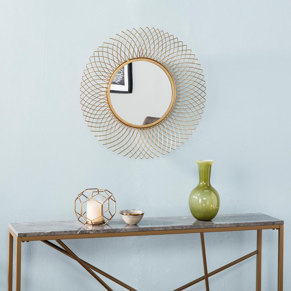 Condray Brass Metal Mirrored Wall Sculpture