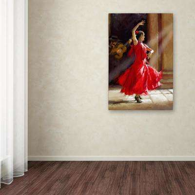 "47 in. x 30 in. ""Flamenco"" by The Macneil Studio Printed Canvas Wall Art"