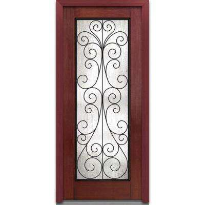 Red Wrought Iron Doors With Gl Fibergl The Home