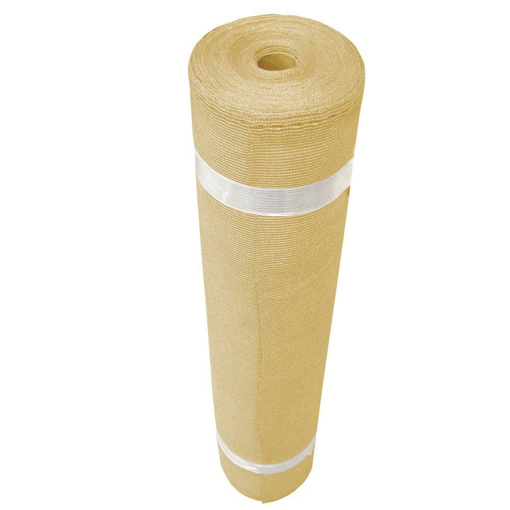 Coolaroo 12 ft. x 50 ft. Wheat Shade Cloth - 90% UV Block