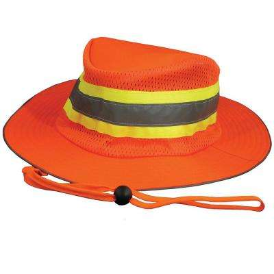 S230 Poly Woven Oxford Boonie Hat with Polyurethane Coating in Hi-Viz Orange