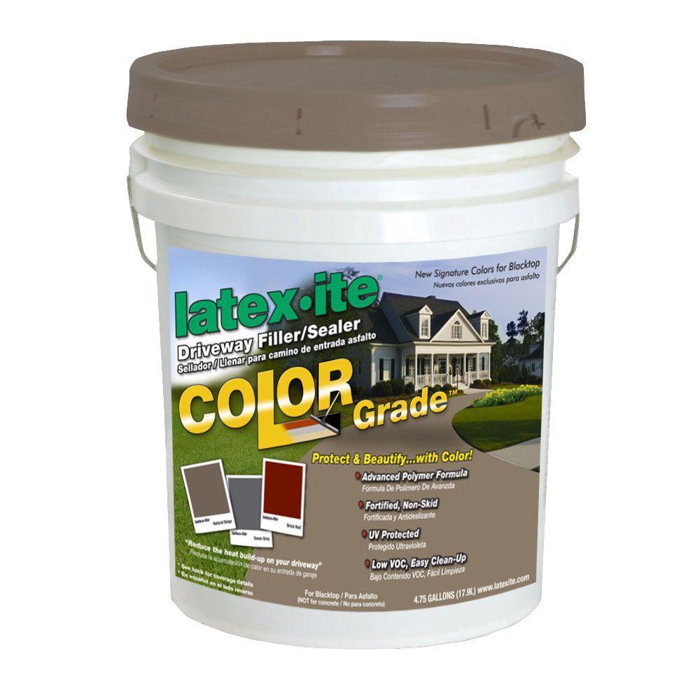 4.75 Gal. Color Grade Blacktop Driveway Filler/Sealer in Dark Beige