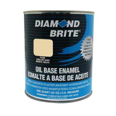 1 qt. English Ivory Oil Base Enamel Interior/Exterior Paint