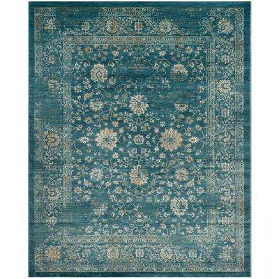 Evoke Light Blue/Beige 9 ft. x 12 ft. Area Rug