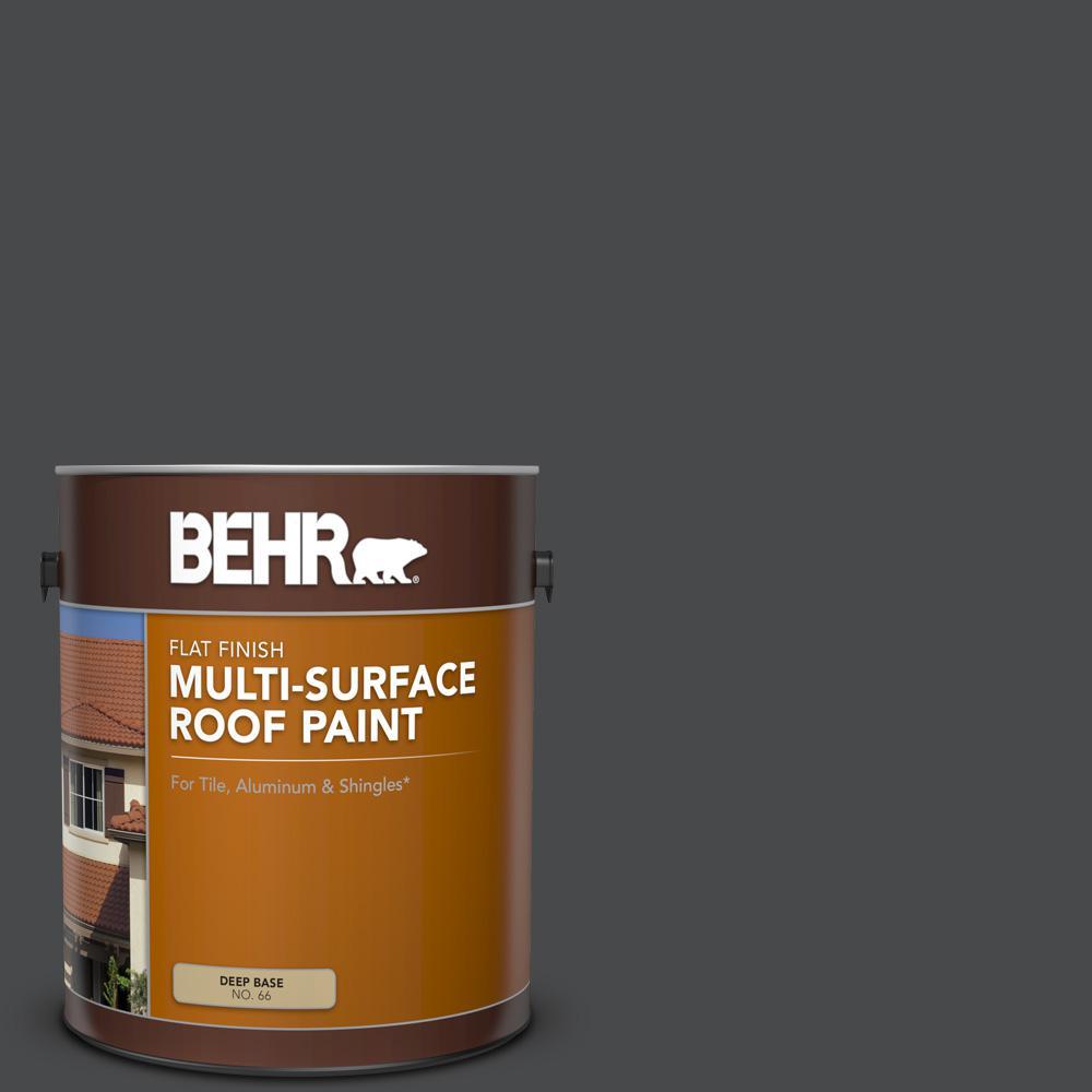 1 gal. #RP-32 Black Slate Flat Multi-Surface Exterior Roof Paint