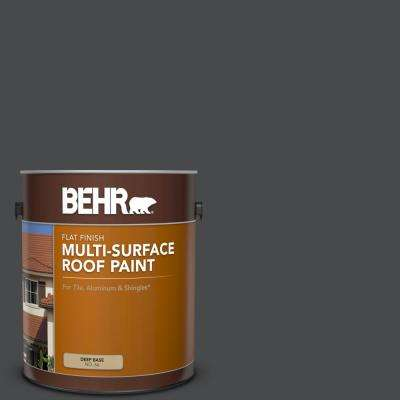 1 gal. #RP-32 Black Slate Flat Multi-Surface Exterior Roof Paint