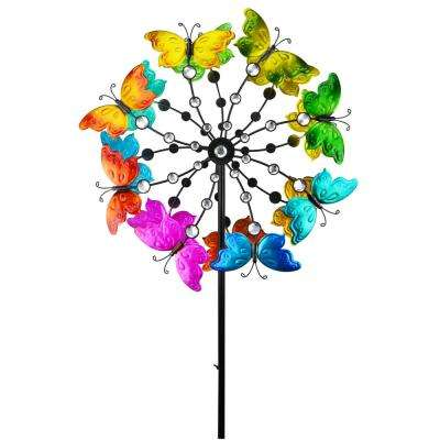 72 in. Metal Butterfly Double Spinner
