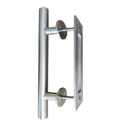 12 in. x 1 in. Stainless Steel Sliding Barn Door Pull Handle