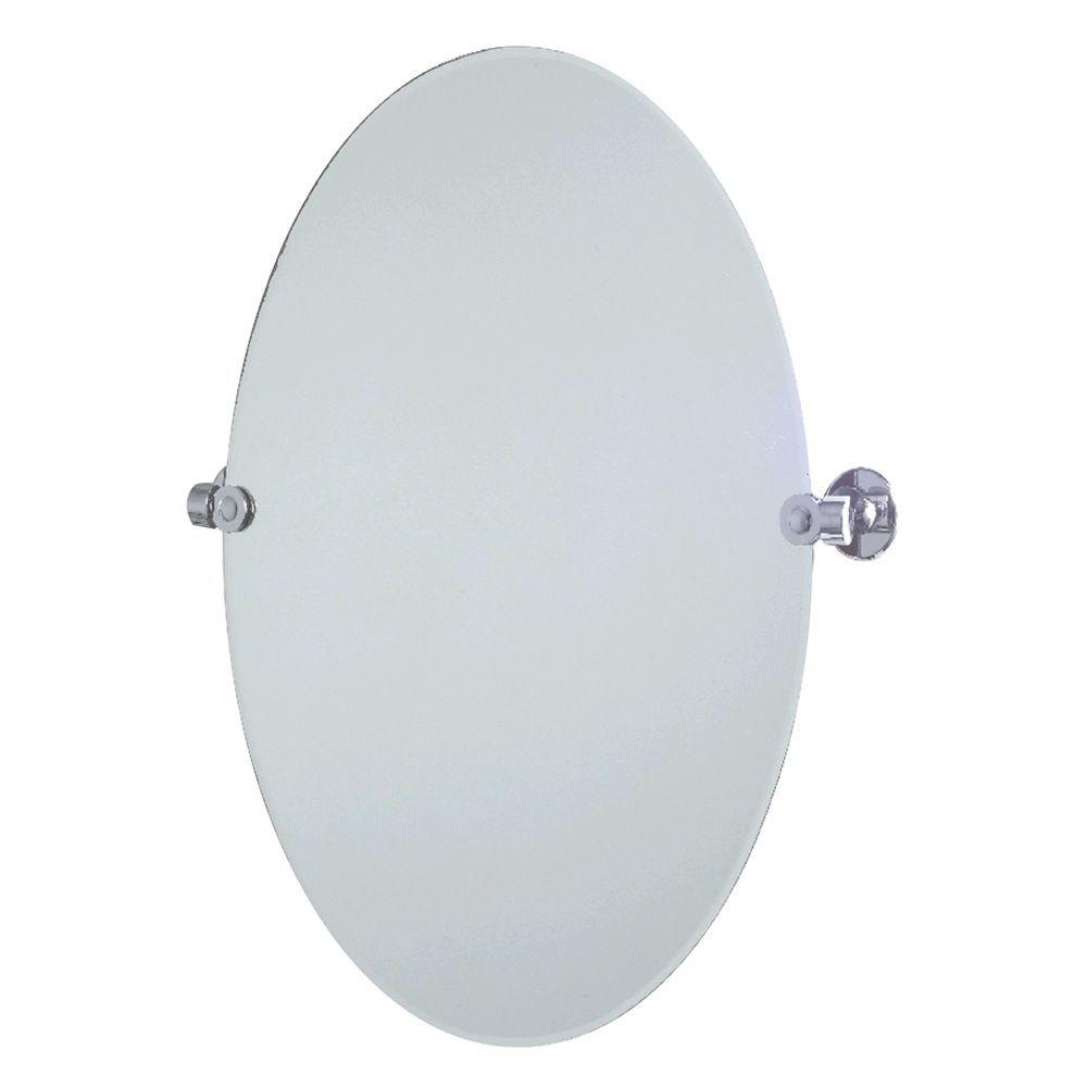 Innova Philip 22 in. x 24 in. Pivoting Mirror in Polished Chrome-DISCONTINUED