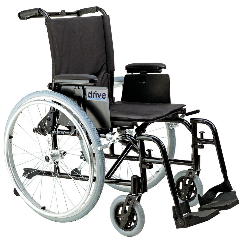 Drive Cougar Ultra Lightweight Rehab Wheelchair with Detachable Desk Arms  and Swing Away Footrest