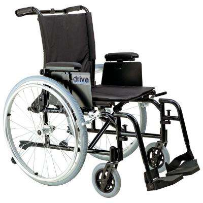Cougar Ultra Lightweight Rehab Wheelchair with Detachable Desk Arms and Swing Away Footrest
