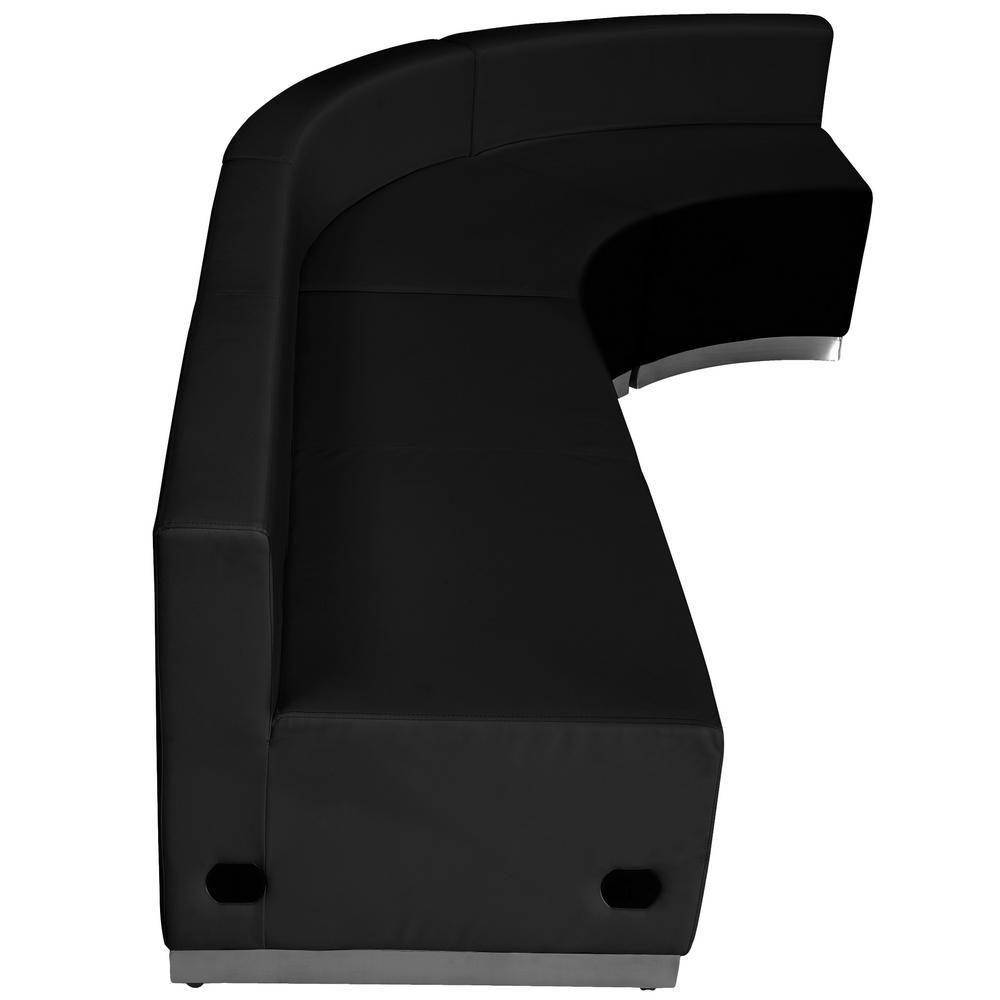 Hercules Alon Series 3-Pieces Black Leather Reception Configuration