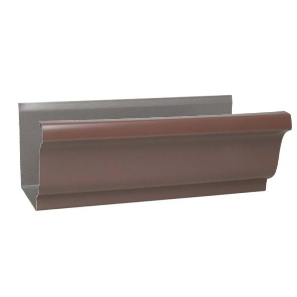 Amerimax Home Products 5 In X 10 Ft Aluminum Gutter 2400619120 The Home Depot
