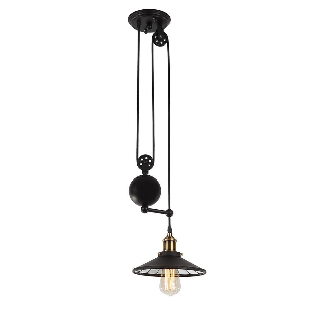Tehno 1-Light Black Pendant