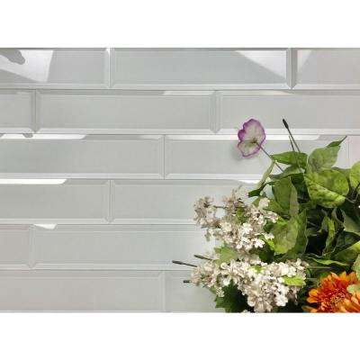 Frosted Elegance White Subway 3 in. x 12 in Glossy Wall Tile (1 sq. ft.)