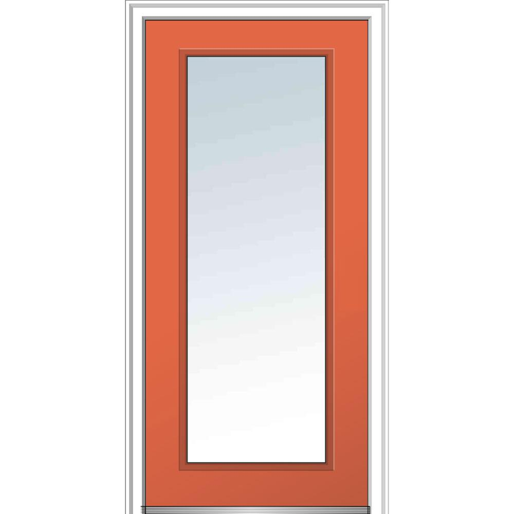 Steel Front Doors With Glass : Mmi door in glass right hand full lite clear