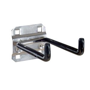 4 in. D Double Rod 90° Bend 1/4 in. Dia Vinyl Dipped Stainless Steel Pegboard Hook for SS LocBoard (2-Pack)