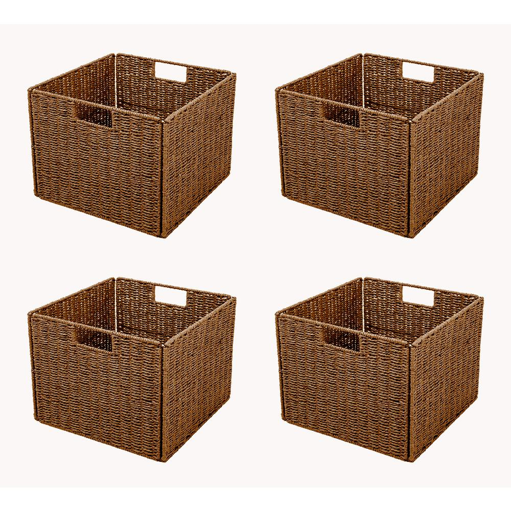 Exceptionnel Trademark Innovations 13 In. X 10 In.Foldable Storage Basket With Iron Wire  Frame