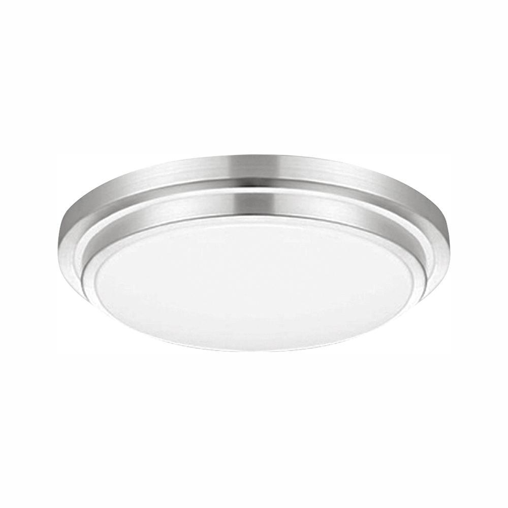 100-Watt Silver Integrated LED Flush Mount