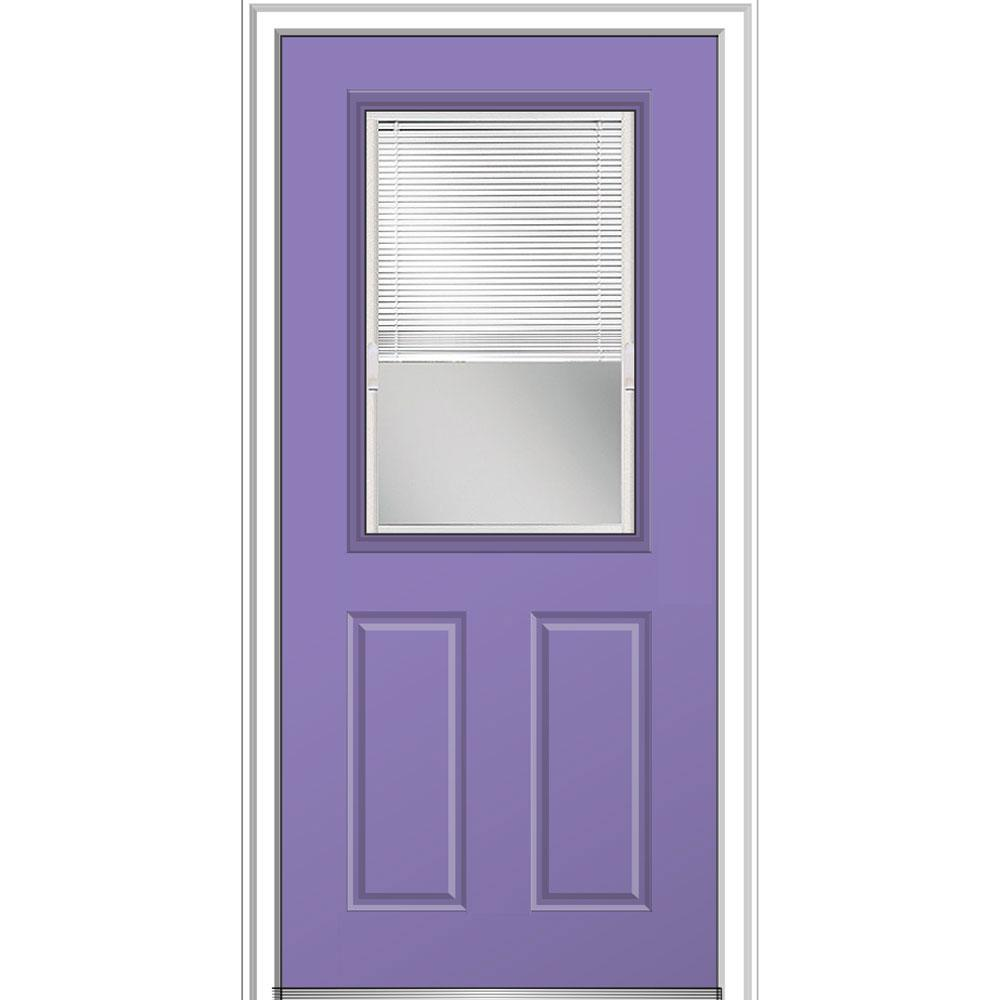 32 in. x 80 in. Internal Blinds Glass Left-Hand Classic 1/2-Lite