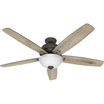 Reveille 60 in. LED Indoor Noble Bronze Ceiling Fan