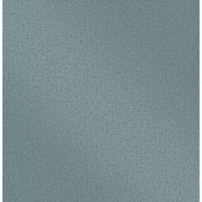 Urbana Teal Geometric Texture Wallpaper Sample