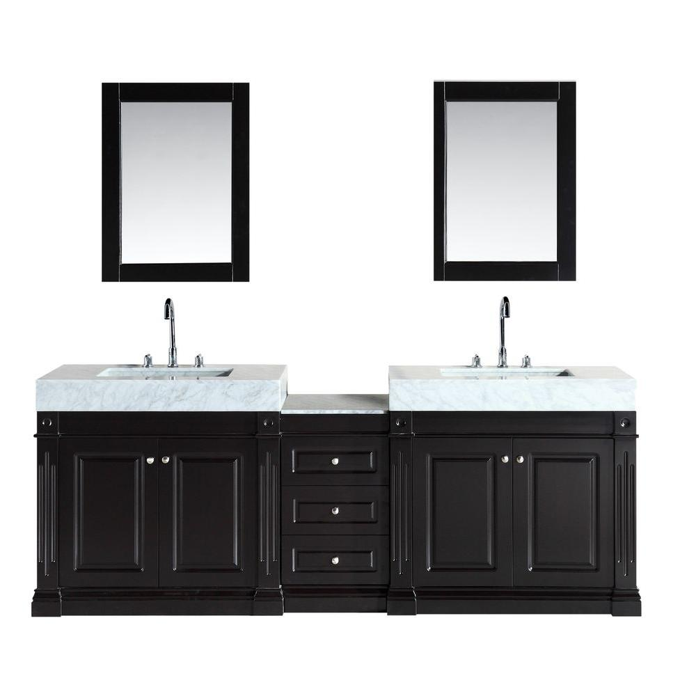 Design Element Odyssey 88 In W X 22 D Double Vanity Espresso