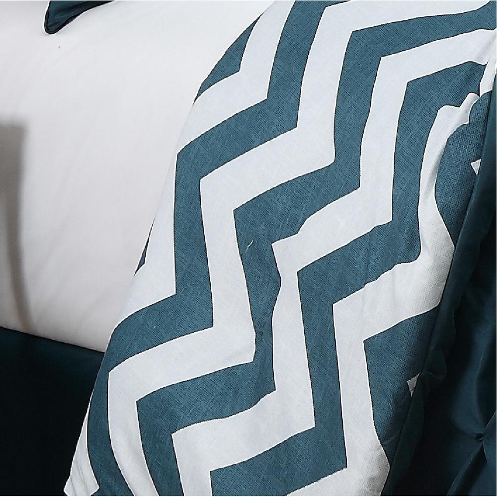 Venice 7-Piece Teal Queen Comforter Set
