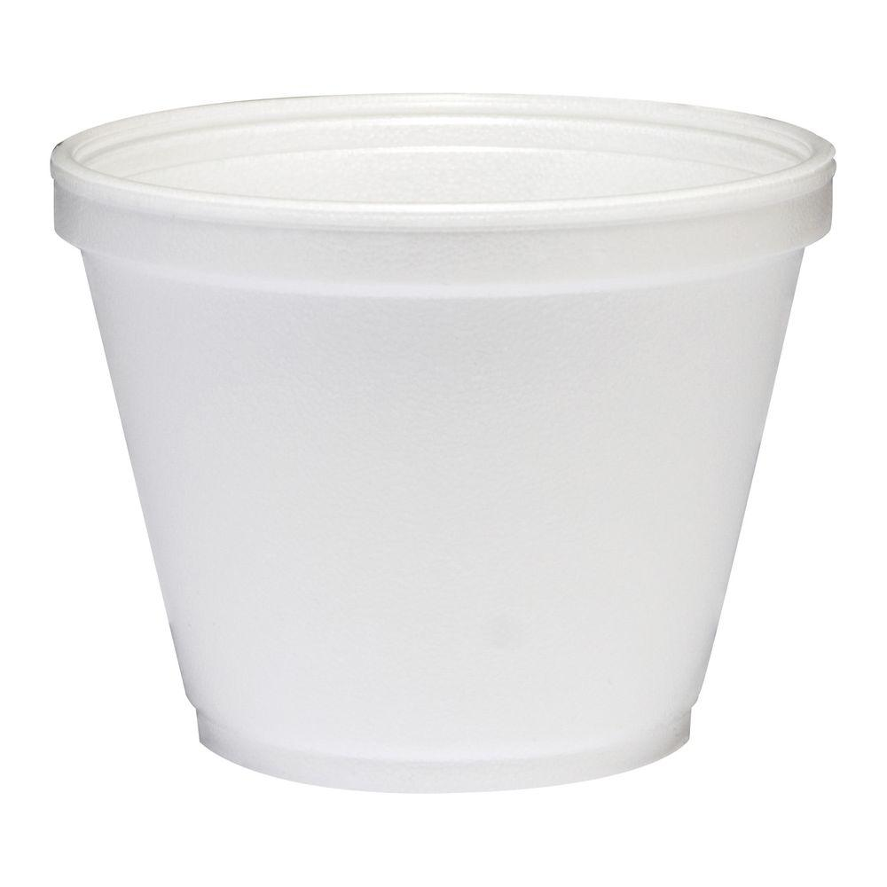 DART Insulated Foam Food Container, 12 oz., White, 500 Per Case
