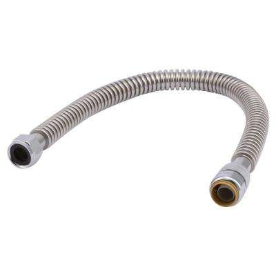 3/4 in. Push-to-Connect x 3/4 in. FIP x 24 in. Corrugated Stainless Steel Water Heater Connector