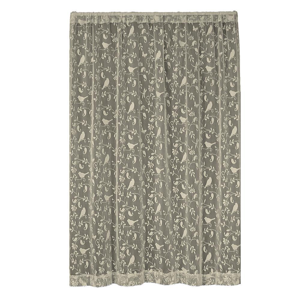 Bristol Garden Caf Lace Curtain 60 in. W x 63 in. L