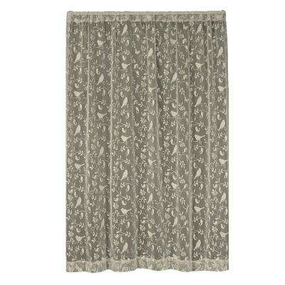 Bristol Garden Caf Lace Curtain 60 in. W x 63 in. L